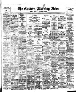 cover page of Eastern Morning News published on February 25, 1888