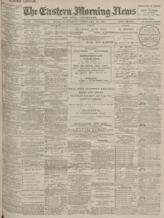 cover page of Eastern Morning News published on February 20, 1897