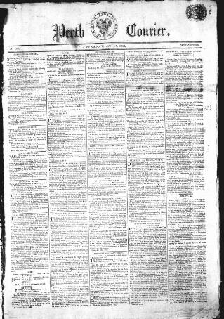 cover page of Perthshire Courier published on July 16, 1812