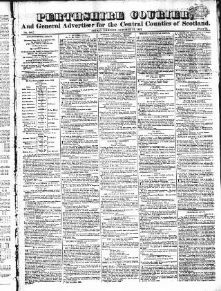 cover page of Perthshire Courier published on October 17, 1823
