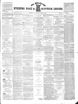 cover page of Edinburgh Evening Post and Scottish Standard published on October 17, 1846