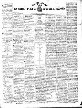 cover page of Edinburgh Evening Post and Scottish Standard published on March 24, 1849