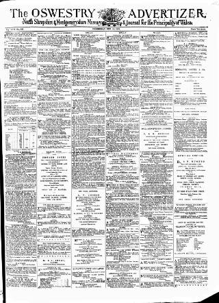 cover page of Oswestry Advertiser published on December 14, 1870