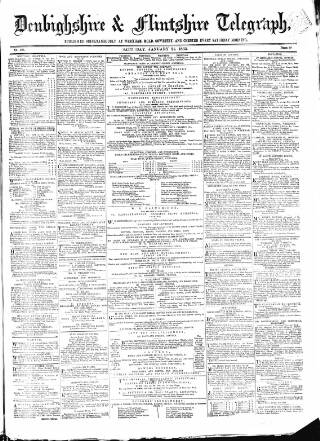 cover page of Wrexhamite and Denbighshire and Flintshire Reporter published on January 21, 1865
