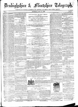 cover page of Wrexhamite and Denbighshire and Flintshire Reporter published on May 13, 1865