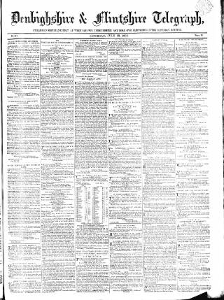 cover page of Wrexhamite and Denbighshire and Flintshire Reporter published on July 15, 1865