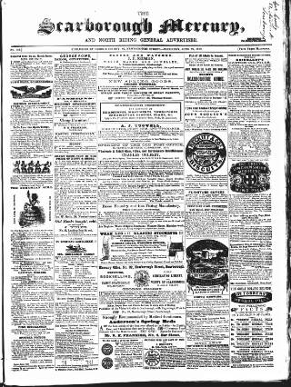 cover page of Scarborough Mercury published on June 26, 1858