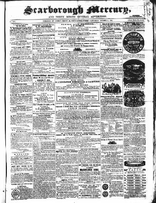 cover page of Scarborough Mercury published on October 9, 1858