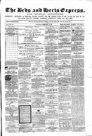 cover page of Hertfordshire Express and General Advertiser published on February 16, 1861
