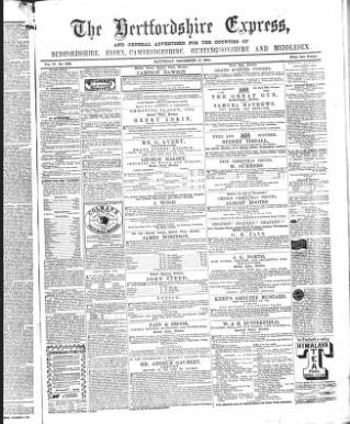 cover page of Hertfordshire Express and General Advertiser published on December 10, 1864