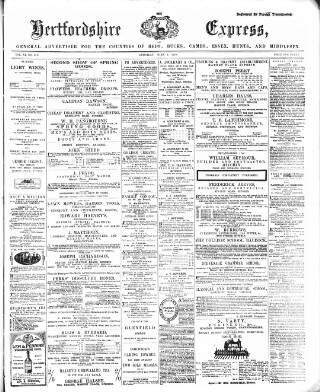 cover page of Hertfordshire Express and General Advertiser published on June 4, 1870