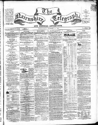 cover page of Nairnshire Telegraph and General Advertiser for the Northern Counties published on October 19, 1859