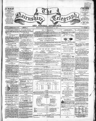 cover page of Nairnshire Telegraph and General Advertiser for the Northern Counties published on December 18, 1861