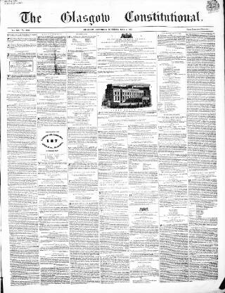 cover page of Glasgow Constitutional published on May 5, 1855