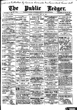cover page of Public Ledger and Daily Advertiser published on May 25, 1901