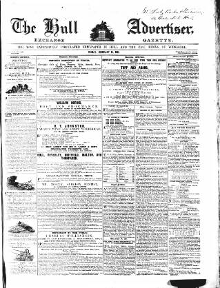 cover page of Hull Advertiser and Exchange Gazette published on February 19, 1841