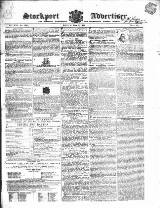 cover page of Stockport Advertiser and Guardian published on June 3, 1842