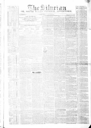 cover page of Silurian, Cardiff, Merthyr, and Brecon Mercury, and South Wales General Advertiser published on February 19, 1853