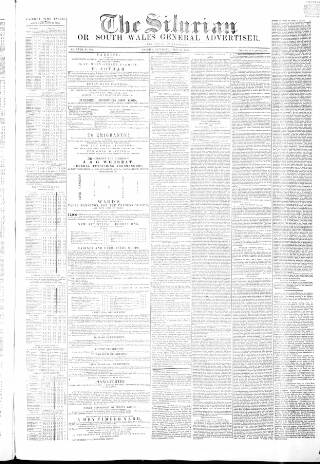 cover page of Silurian, Cardiff, Merthyr, and Brecon Mercury, and South Wales General Advertiser published on April 23, 1853