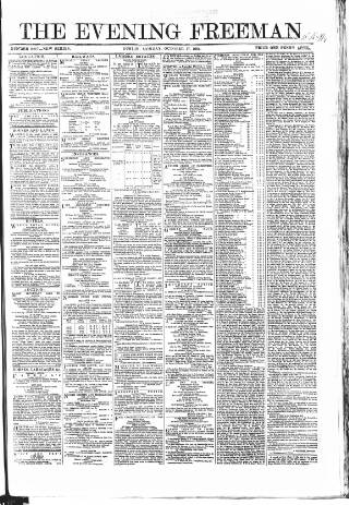 cover page of The Evening Freeman. published on October 17, 1864