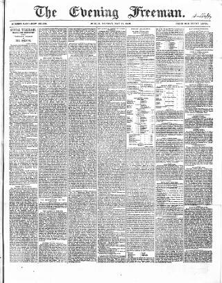 cover page of The Evening Freeman. published on May 17, 1869