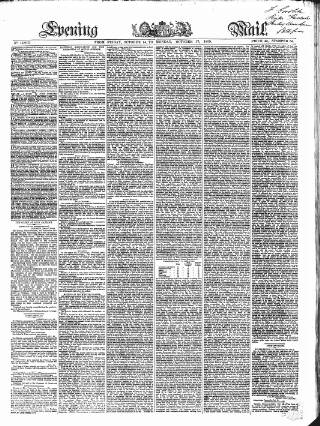 cover page of Evening Mail published on October 17, 1859