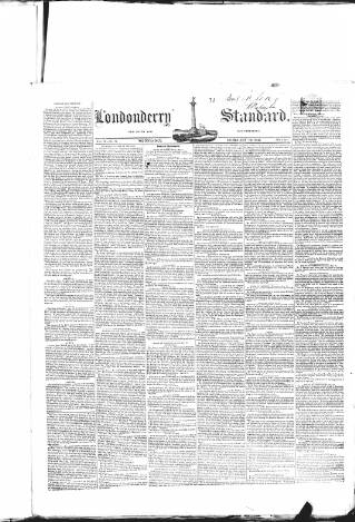 cover page of Londonderry Standard published on February 19, 1845