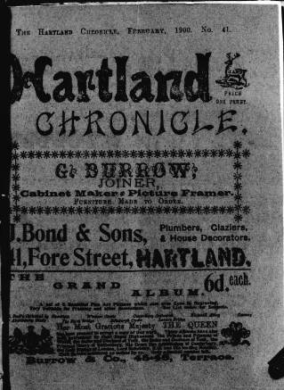cover page of Hartland and West Country Chronicle published on February 19, 1900