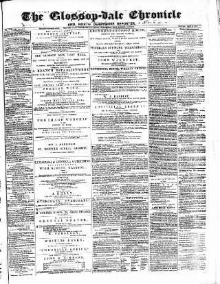 cover page of Glossop-dale Chronicle and North Derbyshire Reporter published on April 8, 1871