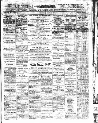 cover page of Ilkeston Pioneer published on March 1, 1866
