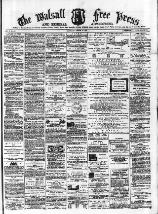 cover page of Walsall Free Press and General Advertiser published on August 18, 1866