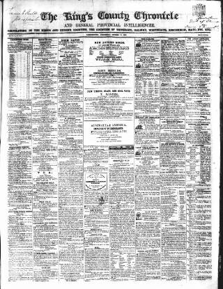 cover page of Kings County Chronicle published on October 17, 1855