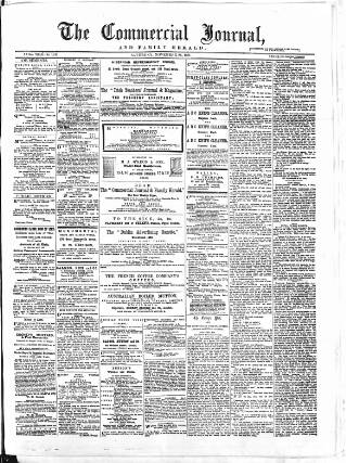 cover page of Commercial Journal published on November 25, 1871