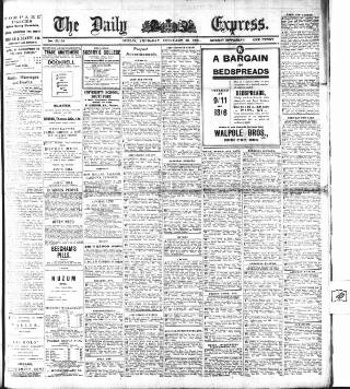 cover page of Dublin Daily Express published on February 16, 1911
