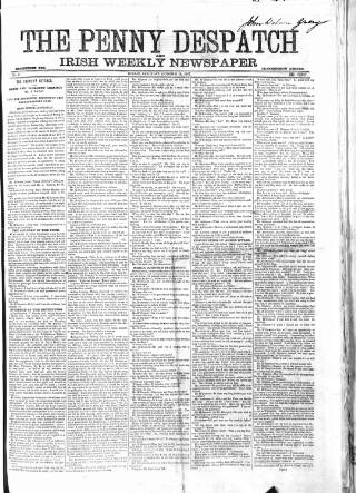 cover page of Penny Despatch and Irish Weekly Newspaper published on October 19, 1861