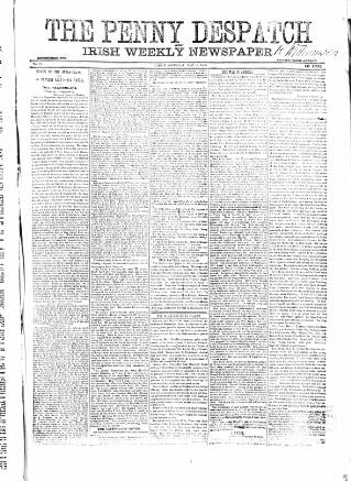 cover page of Penny Despatch and Irish Weekly Newspaper published on May 16, 1863