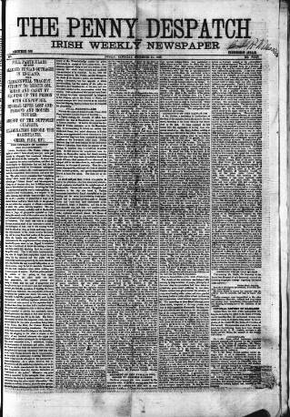 cover page of Penny Despatch and Irish Weekly Newspaper published on December 21, 1867
