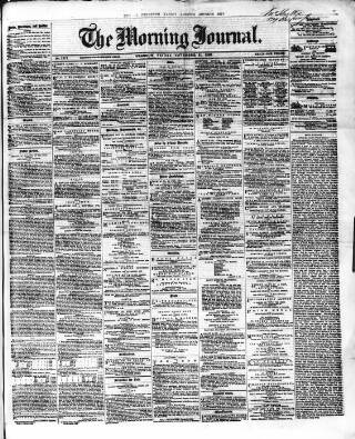 cover page of Glasgow Morning Journal published on November 21, 1862
