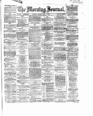 cover page of Glasgow Morning Journal published on May 9, 1864