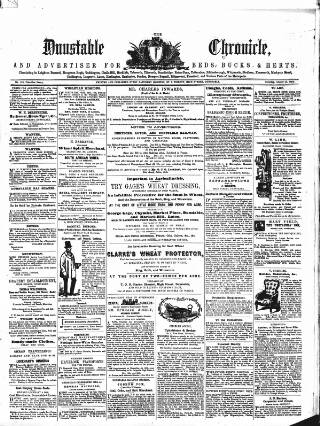 cover page of Dunstable Chronicle, and Advertiser for Beds, Bucks & Herts published on October 15, 1859