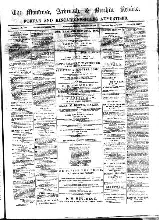 cover page of Montrose, Arbroath and Brechin review; and Forfar and Kincardineshire advertiser. published on December 14, 1894