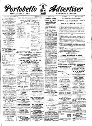 cover page of Portobello Advertiser published on July 17, 1896