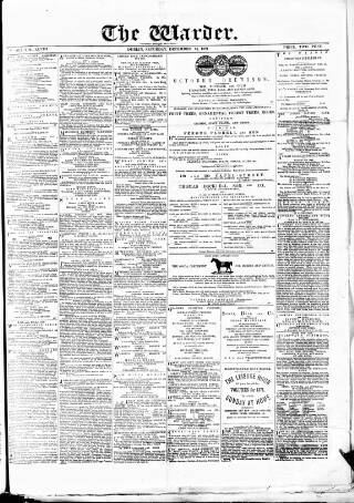 cover page of Warder and Dublin Weekly Mail published on December 16, 1871