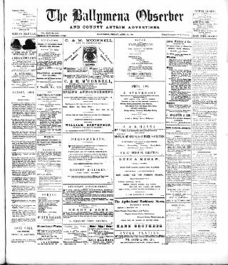cover page of Ballymena Observer published on April 19, 1901