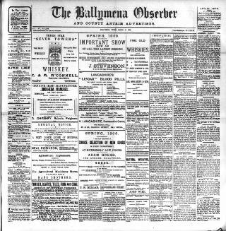 cover page of Ballymena Observer published on March 19, 1909