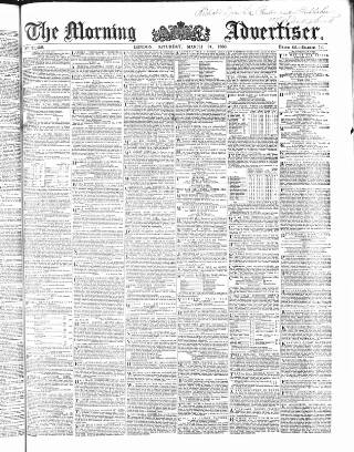cover page of Morning Advertiser published on March 24, 1860