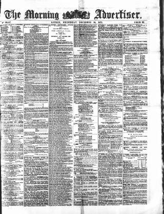 cover page of Morning Advertiser published on December 18, 1872