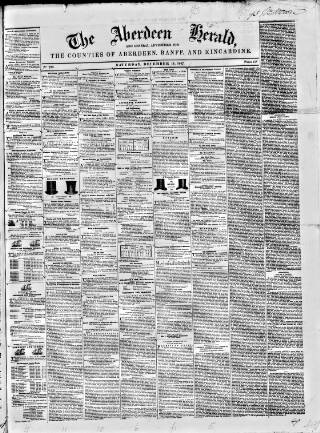 cover page of Aberdeen Herald and General Advertiser published on December 18, 1847