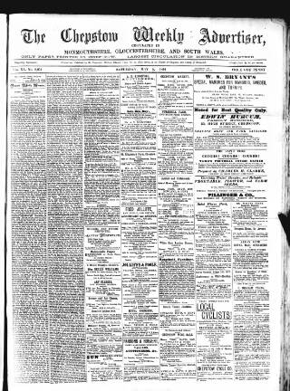 cover page of Chepstow Weekly Advertiser published on May 5, 1894