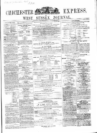 cover page of Chichester Express and West Sussex Journal published on May 5, 1868